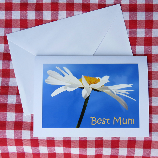 Best Mum.  A Mother's Day card, blank inside for your own message.