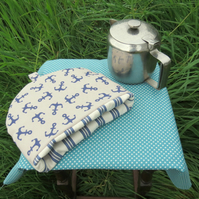 A small tea cosy.  To fit a 1 - 2 cup teapot.  Nautical decor.