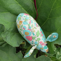 Pin cushion.  A floral mouse pin cushion made from Liberty Lawn.