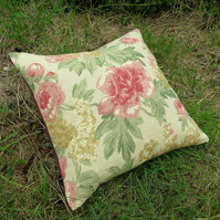 Floral Cushion. A cushion complete with feather pad.  Full Bloom.  52cm x 52cm.
