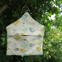 A peg bag with a Scandi bird design.