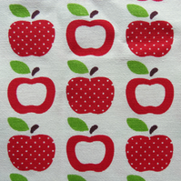 Apples fabric. 1 metre of medium weight cotton.  56 inches in width.