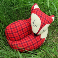 Fox doorstop.  A red fox doorstop, made from tactile wool.