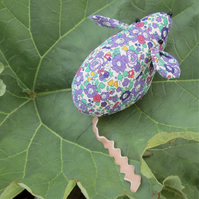 A field mouse pin cushion.  Made from Liberty Lawn.  Sewing gift.