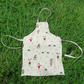 Child Apron. Size small,  5 - 7 years.  Christmas design.