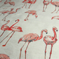 Flamingos. A linen look cotton. 1 metre length, 137cm width.  Medium weight.