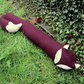 Fox draught excluder. Made from tactile wool.  Winter decor.  105cm in length.
