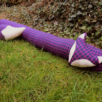 Fox draught excluder.  Extra long draft excluder.  111cm in length.  Winter.