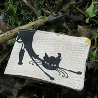 Oyster Card Sleeve. Travel card holder.  Cats design.