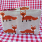 Travel card holder.  Foxes design.  Oyster card wallet.