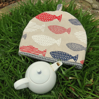 Fish.  A tea cosy, size large. To fit a 4 - 5 cup teapot.
