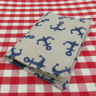 A passport sleeve.  Passport Cover.  Nautical Design.
