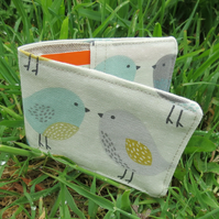 Oyster card holder. Birds design. Travelcard Sleeve.