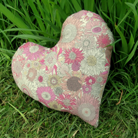 Breast Cancer Pillow. Masectomy Pillow. Made from Liberty Lawn.  Heart Pillow.