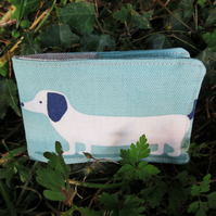 Travel Card Sleeve.  Oyster Card Cover.  Dogs Design.