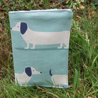 Passport Sleeve. A passport cover with a dachshund design.  Travel Gift.