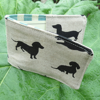 Oyster Card Sleeve. Travel card holder.  Dogs design.