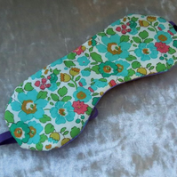 Sleep Mask.  A floral sleep mask, made from Liberty Lawn.