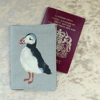 Passport Cover.  Puffins.  Passport Sleeve.