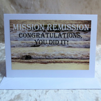 Mission Remission.  Cancer card.  Beating cancer.