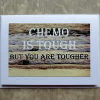 Chemo Card.  Cancer Card.  A card left blank inside for your own message.