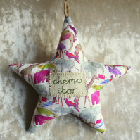 Chemo Star.  Cancer Gift.  A hanging star made from Liberty Lawn.