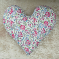Mastectomy pillow. Floral heart. A breast cancer pillow  made from Liberty Lawn.