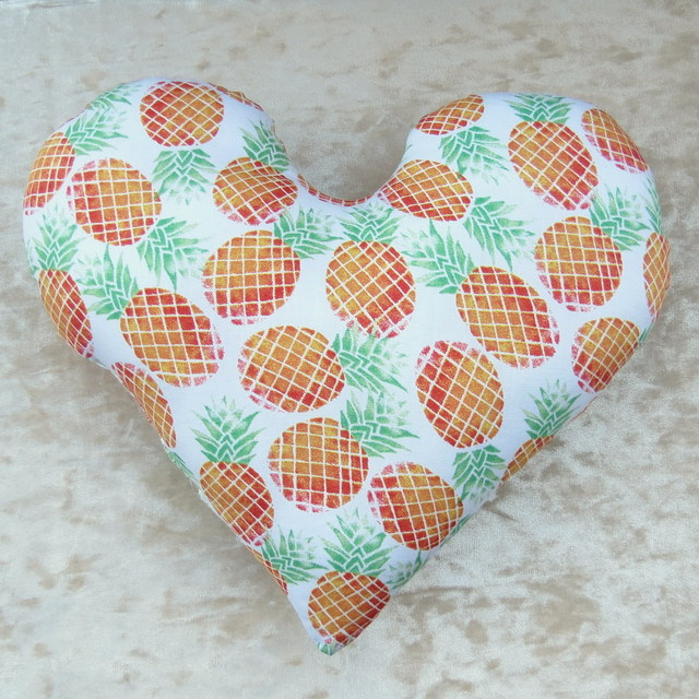 Mastectomy pillow.  Breast cancer pillow.  Pineapple design.