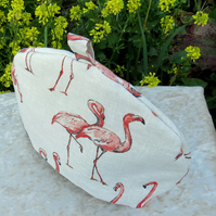 Large tea cosy.  Flamingos.  A tea cosy made to fit a 5-6 cup teapot.