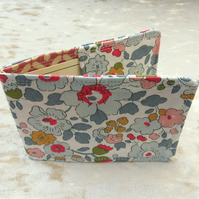 Ticket Sleeve.  Oyster card cover.  Betsy floral,  Liberty Lawn.