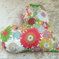Breast cancer pillow. Mastectomy pillow.  A heart pillow made from Liberty Lawn.