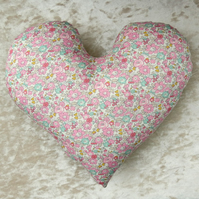 Breast Cancer pillow.  Heart shaped cushion.  Mastectomy pillow.