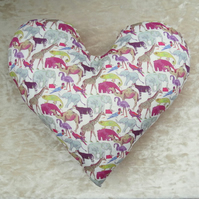 Masectomy pillow.  Heart pillow.  Breast surgery pillow.  Made from Liberty Lawn