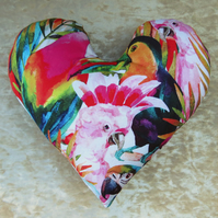 Mastectomy pillow.  Heart pillow.  Toucan design.