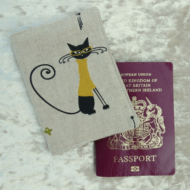 Passport Cover.  Cats.  Passport Sleeve.