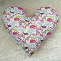 Mastectomy pillow.  Heart pillow.  Breast Cancer pillow.  Animals design.