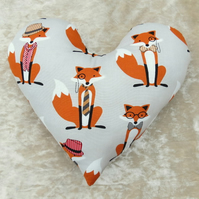 Mastectomy pillow.  Foxes.  Breast cancer pillow.