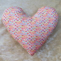 Heart Pillow.  Mastectomy pillow.  Made from Liberty Lawn.