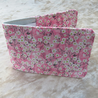 Ticket sleeve. Oyster card cover. Made from Liberty Tana Lawn.