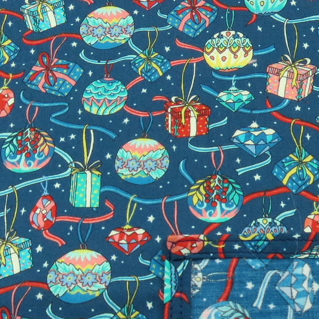 Festive handkerchief..Cotton handkerchief.  Made from Liberty Lawn.