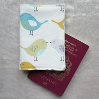 Passport Cover. Birds design.  Passport pouch.