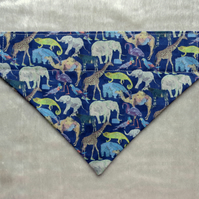 Dog bandana. Dog neckerchief. Made from Liberty Tana Lawn. Size small.