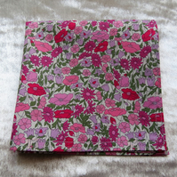 Liberty Lawn handkerchief.  Ladies hankie.  Cotton handkerchief.