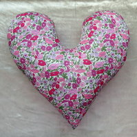 Breast Cancer pillow.  Poppy design.  Mastectomy pillow. Made from Liberty Lawn