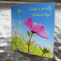 Social distancing card.  Thinking of you.  Friendship.
