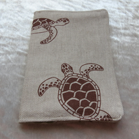 Passport Cover. Passport sleeve. Turtle design.