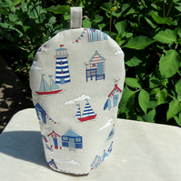 Coffee Cosy.  Nautical design.  Size small, to fit a 2 cup cafetiere.