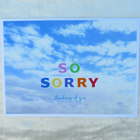 So Sorry.  Pet condolence card.  Pet sympathy card.