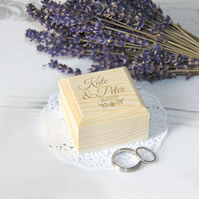 Personalised Wedding Ring Box, Unique Engagement Ring Box Wooden Ring Box Branch