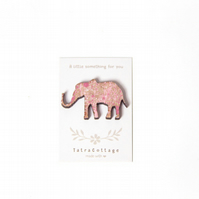 Elephant Wooden Brooch Pin, Handpainted, Gift for Mum, Gift for Her